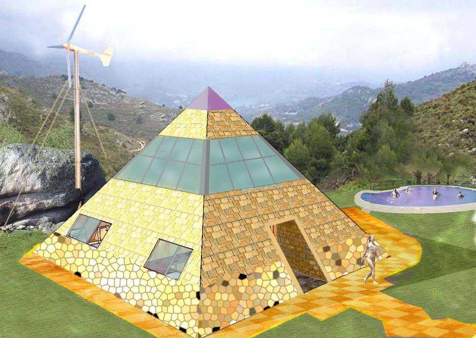 Architecture Of Pyramid House Of Piramicasa